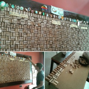Bulletin boards made from wine corks