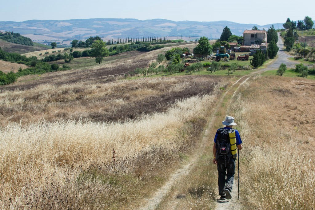 Il Cammino. La tappa San Quirico d'Orcia - Radicofani