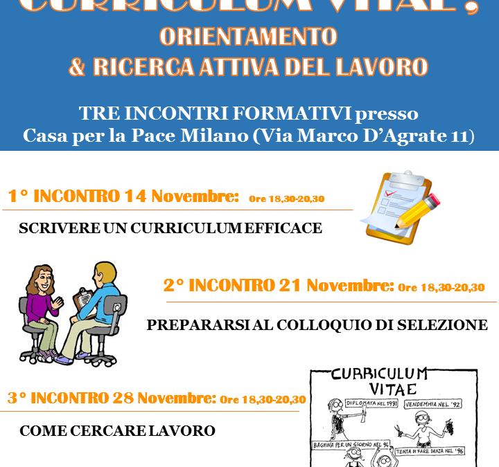 (Italiano) Laboratorio sul Curriculum Vitae, Orientamento e la ricerca attiva del lavoro