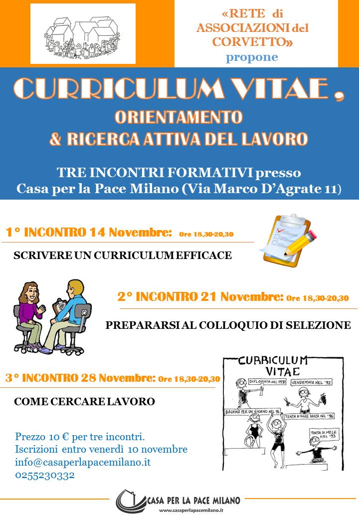 Locandina Corso Curriculum Vitae