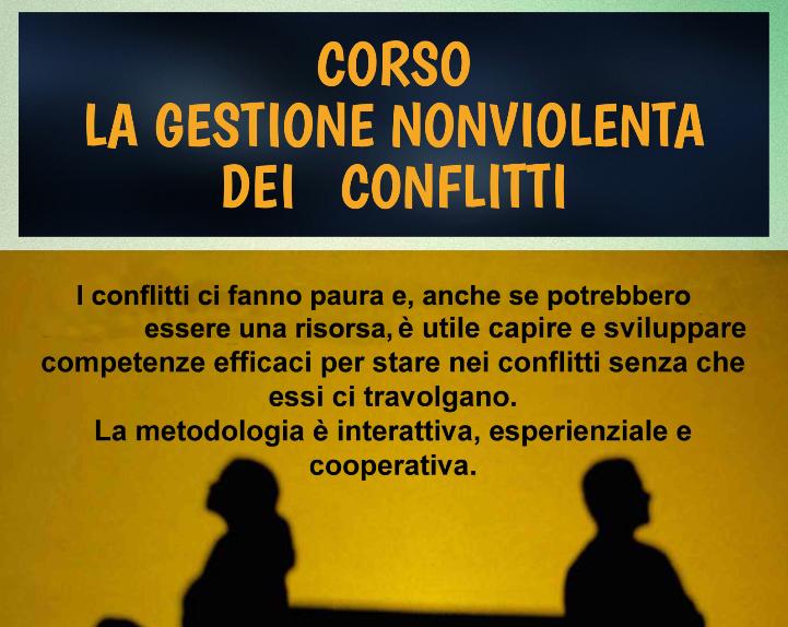 Locandina Corso Gestione Nonviolenta dei Conflitti