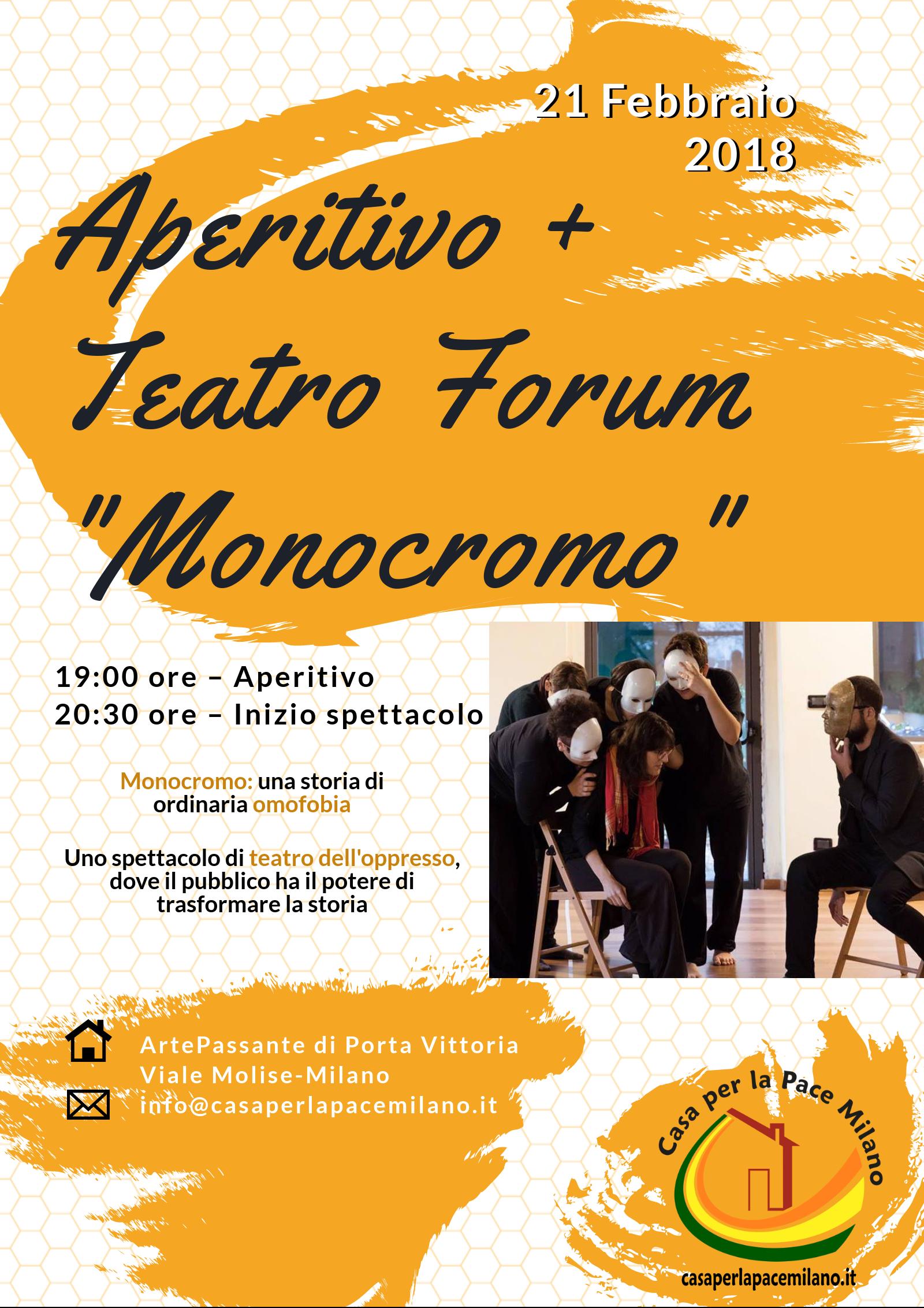 mercoledì 21 febbraio spettacolo TdO Monocromo