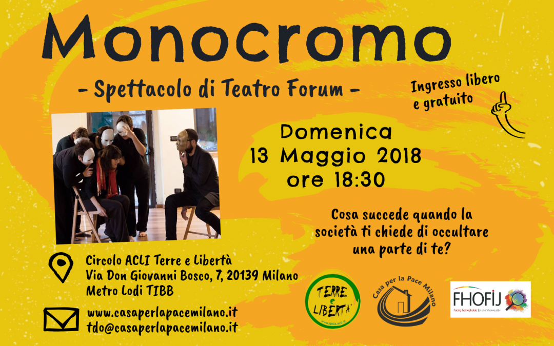 """(Italiano) Spettacolo di Teatro Forum """"Monocromo"""""""