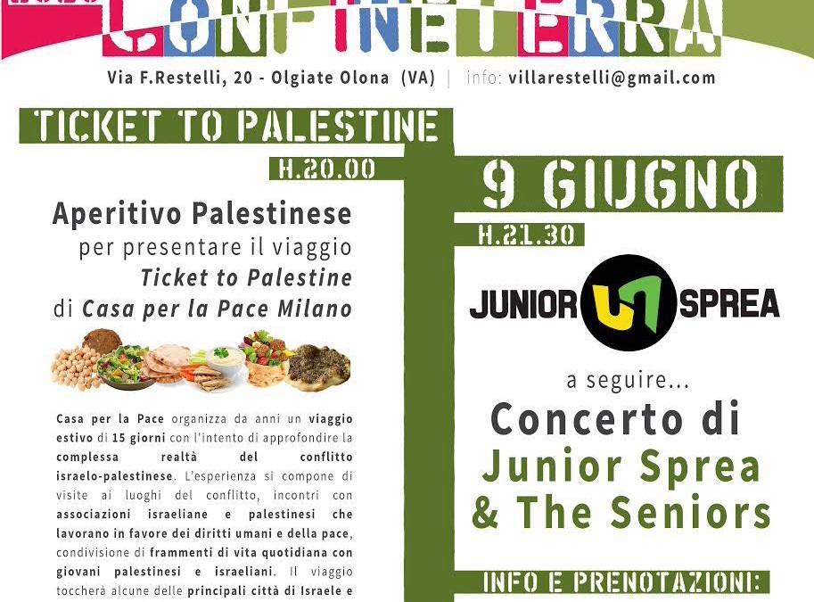 (Italiano) Aperitivo palestinese + presentazione del viaggio in Israele e Palestina + concerto