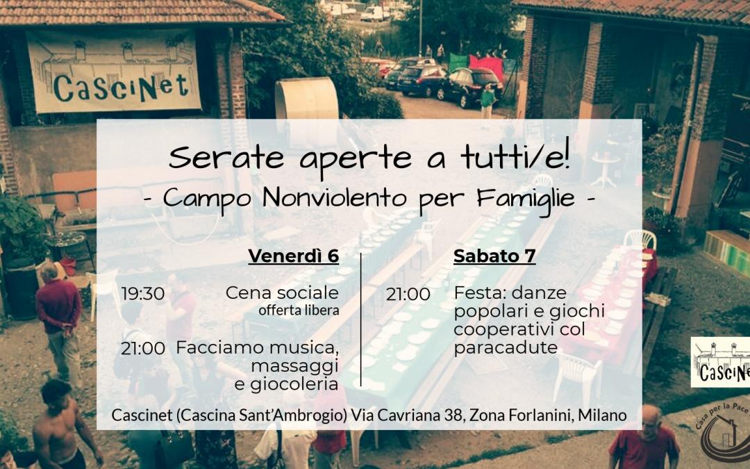 (Italiano) Serate aperte Campo Nonviolento per Famiglie