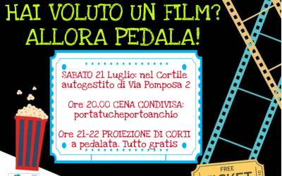 Cinema ambulante in bicicletta nei cortili del Corvetto