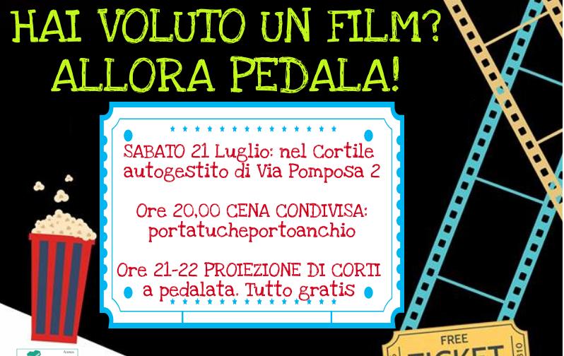 (Italiano) Cinema ambulante in bicicletta nei cortili del Corvetto