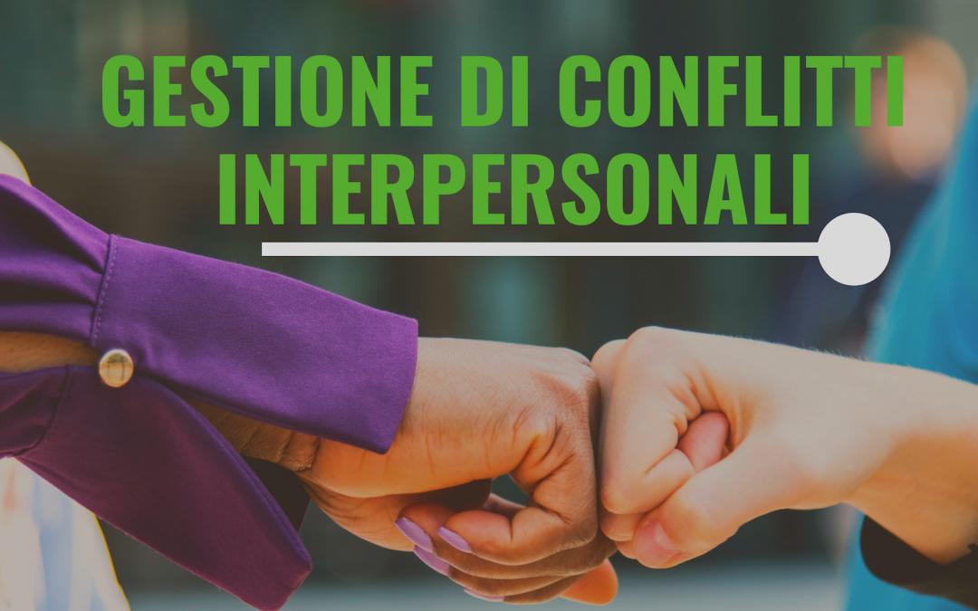 Corso sulla gestioni dei conflitti interpersonali